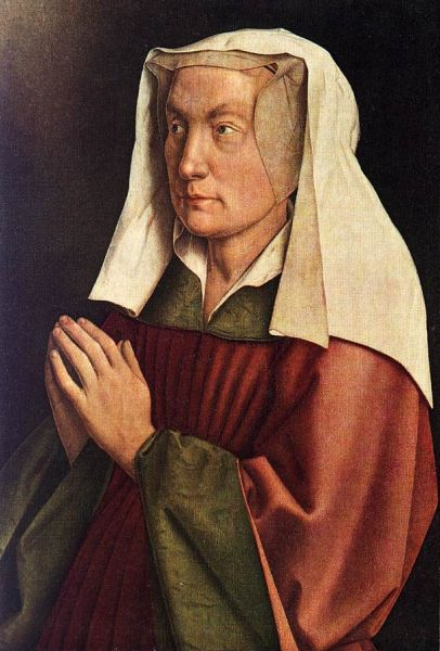 the ghent altarpiece  the donors wife detail 1432.preview